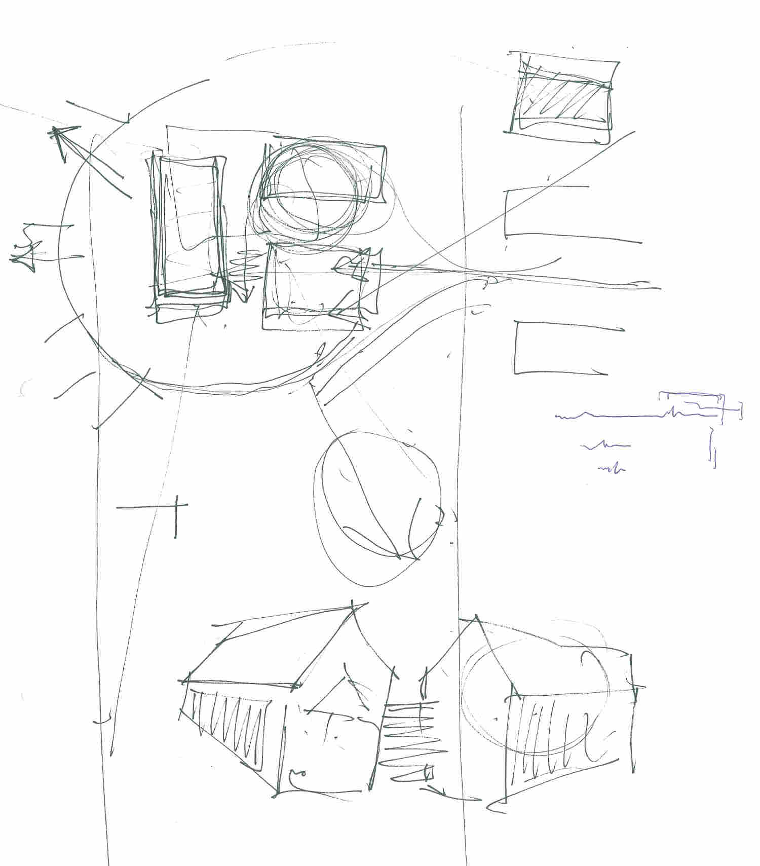 House concept discussion sketches