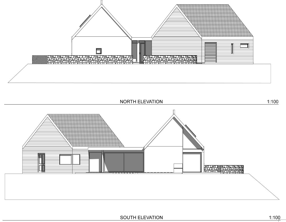 House elevations for planning application