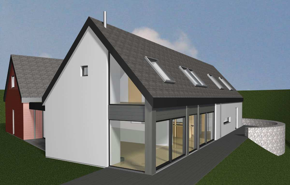 3D Render of the house for planning