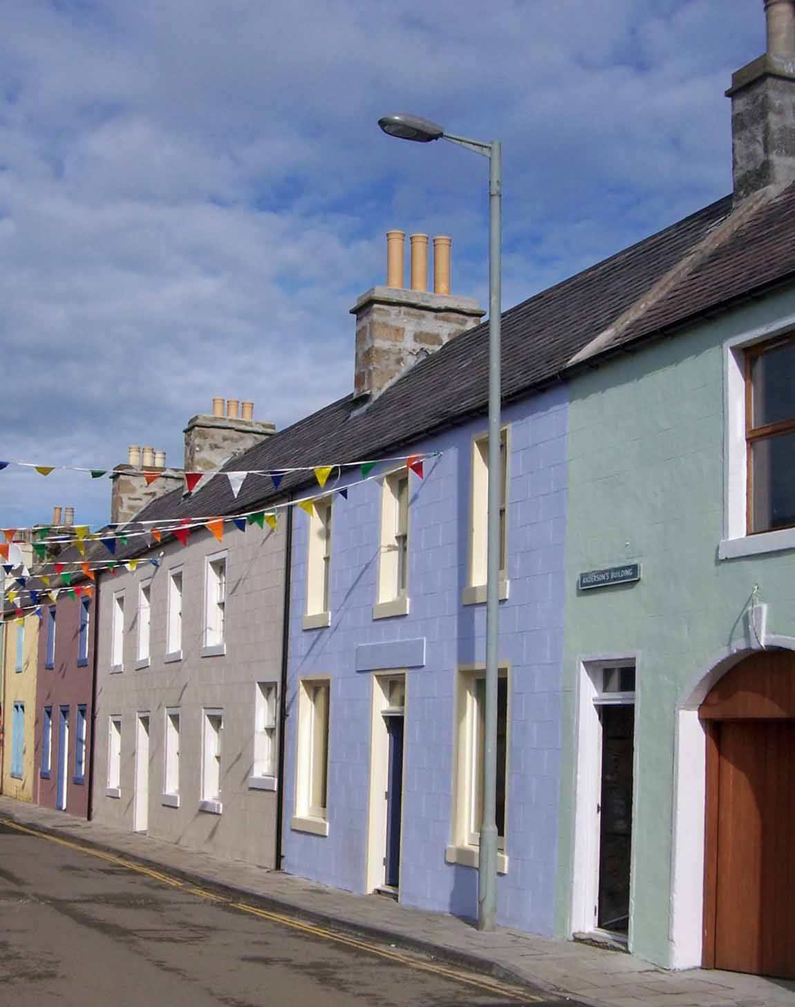 NEW LIFE FOR OLD BUILDINGS - Redman + Sutherland Architects, Shetland - Anderson Buildings streetscape