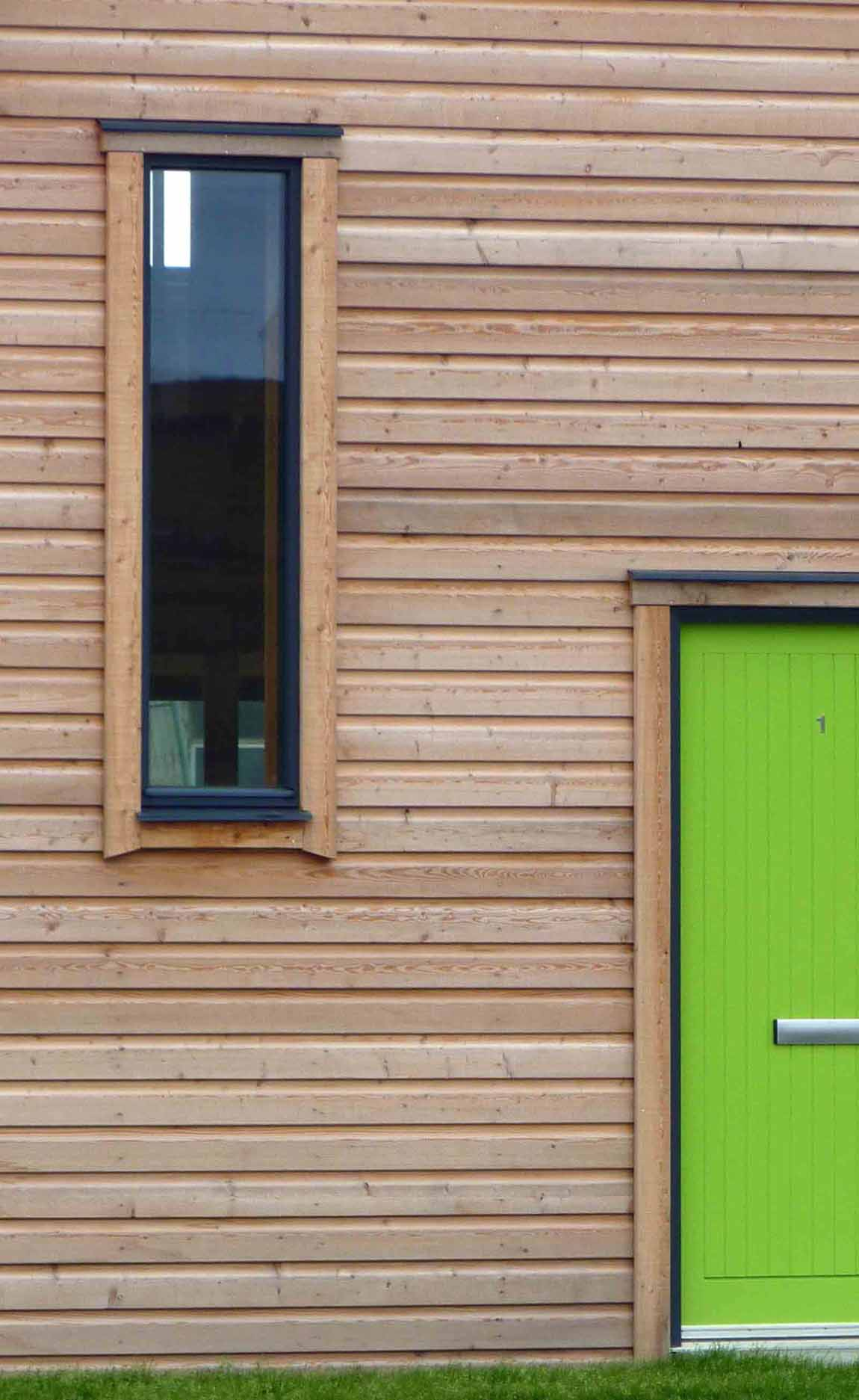 New  Building, Redman + Sutherland Architects,Hjaltland Housing Association, Brough View, Cullivoe, Shetland, detail