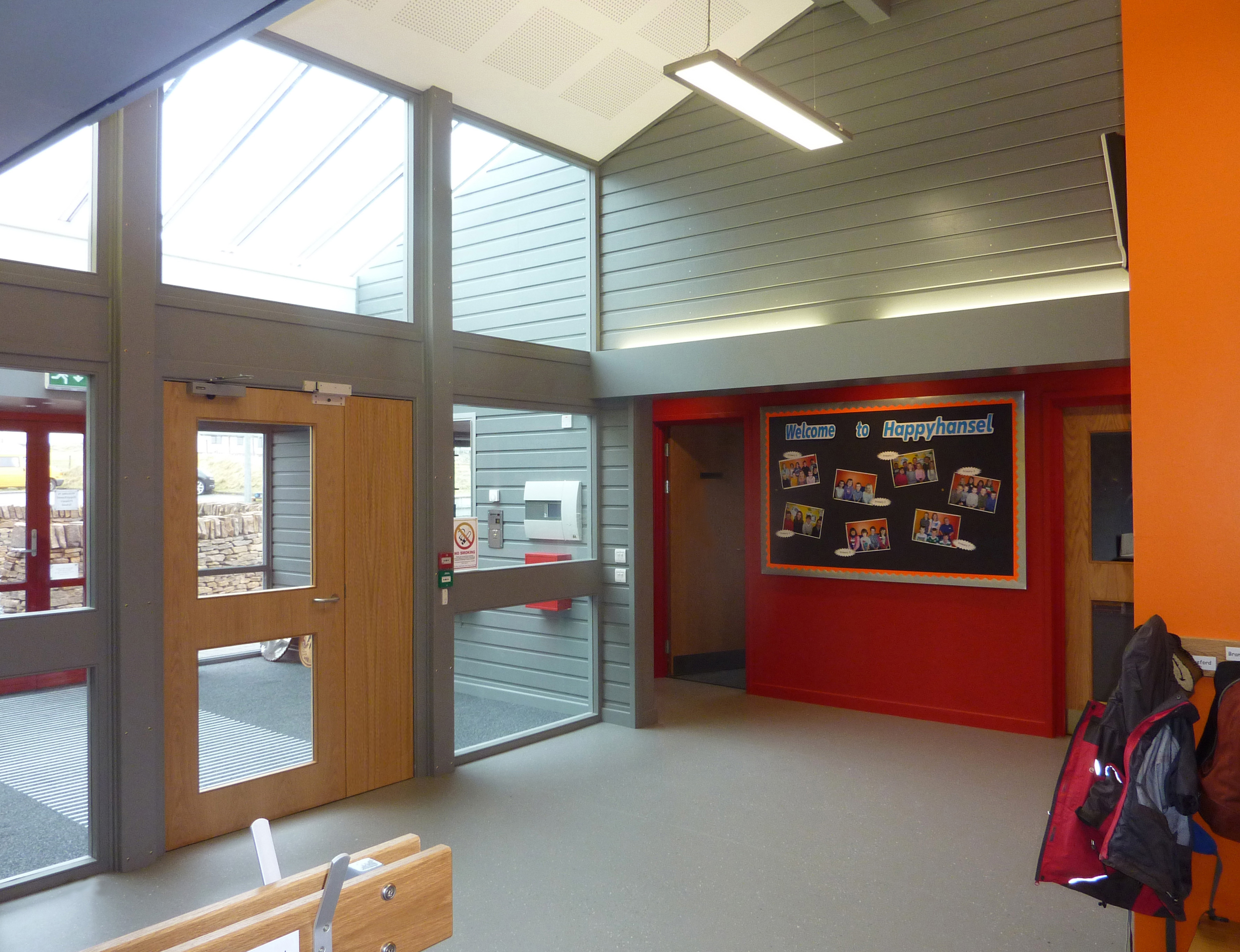 New Life For Existing Buildings Redman Sutherland Architects Shetland Happyhansel Primary School entrance
