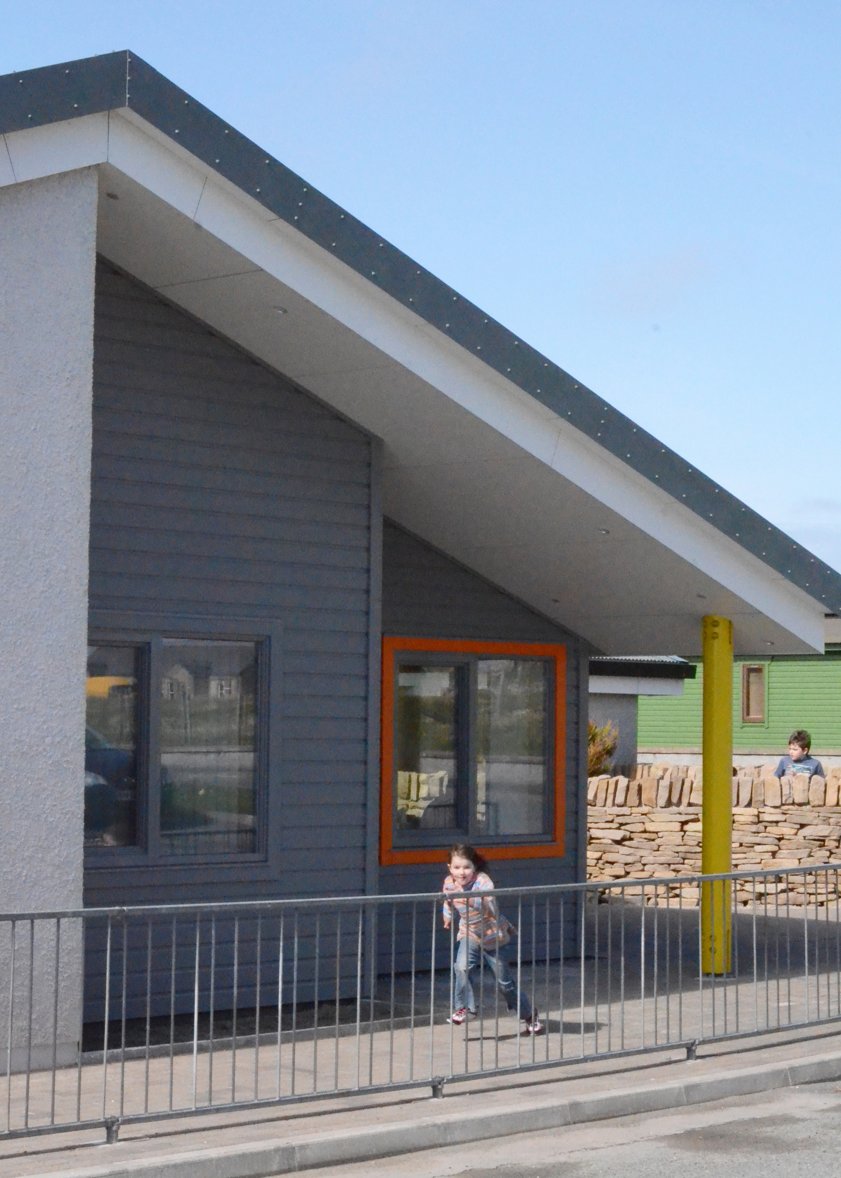 New Life For Existing Buildings Redman Sutherland Architects Shetland Happyhansel Primary School exterior