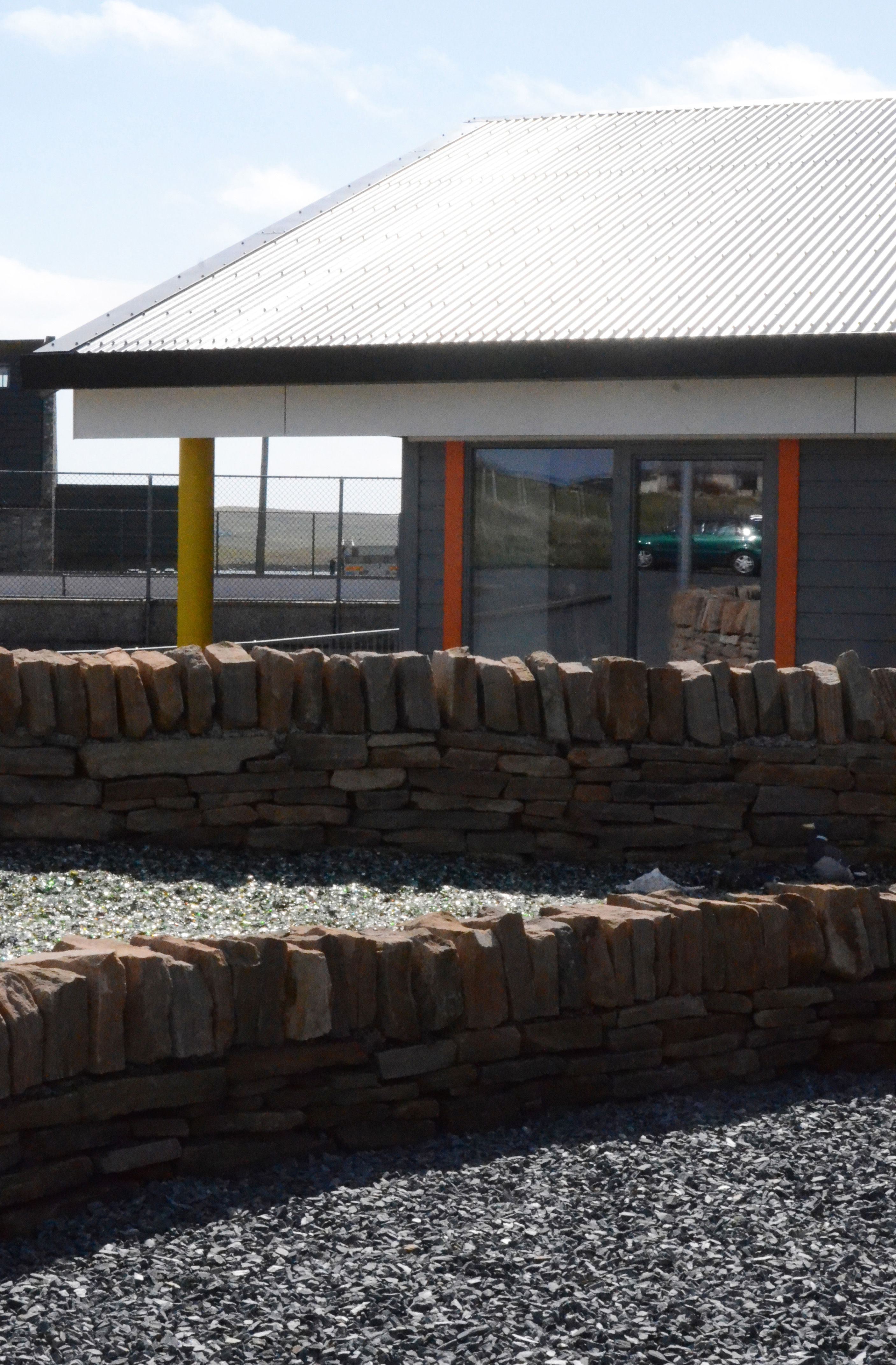New Life For Existing Buildings Redman Sutherland Architects Shetland Happyhansel Primary School landscaping area