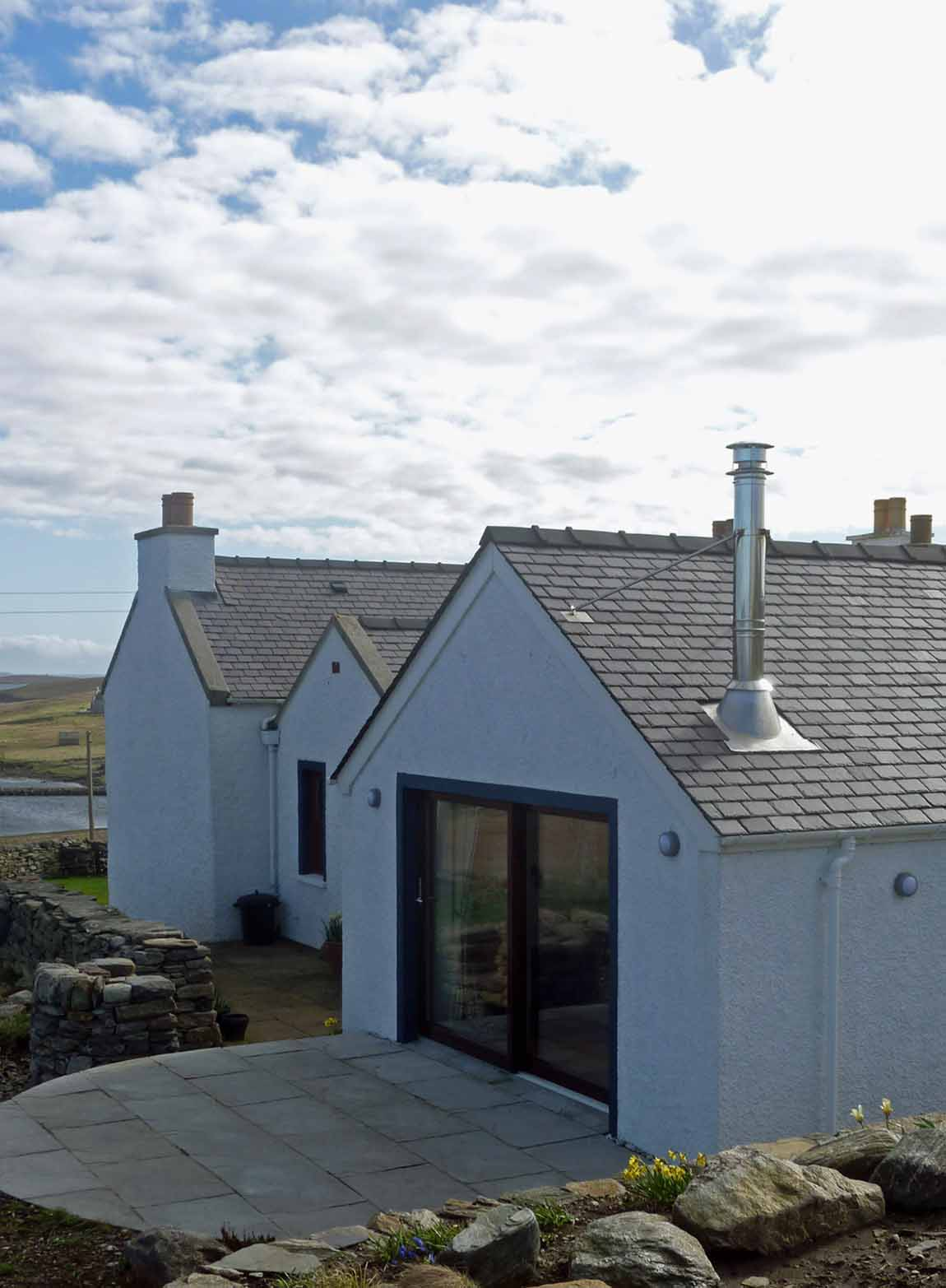New Life for Old Buildings, Redman + Sutherland Architects New House, Cullivoe, Yell, Shetland, exterior 2