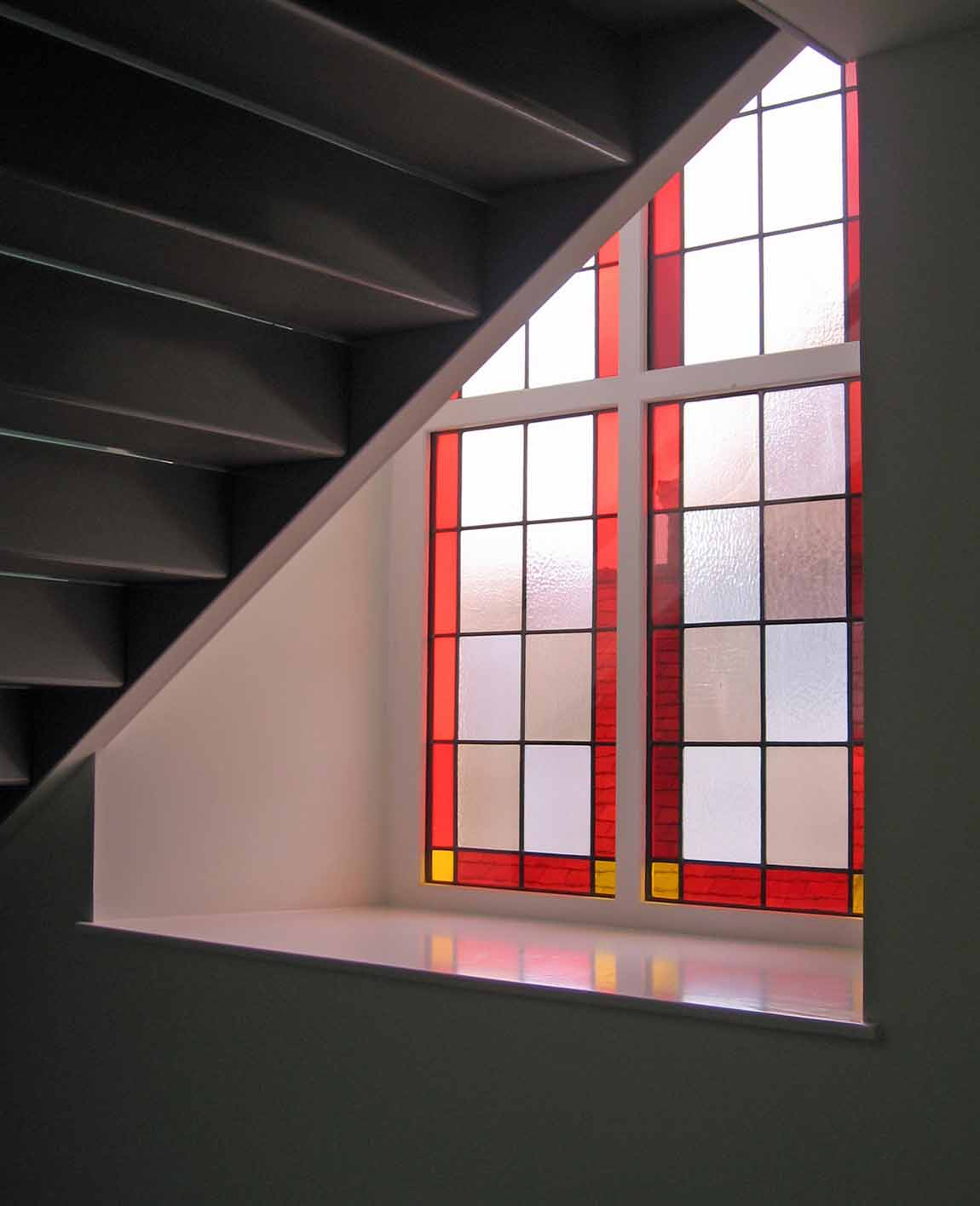 New Life for Old Buildings, Redman + Sutherland Architects Sinclair Thomson Housel,Lerwick, Shetland, Exterior, window stair 2
