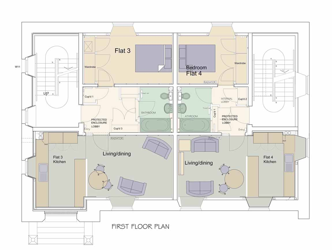 New Life for Old Buildings, Redman + Sutherland Architects Sinclair Thomson Housel,Lerwick, Shetland, Plan