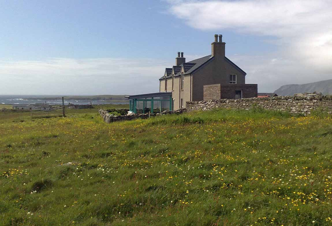 New life for old Buildings Redman and Sutherland Architects Shetland, Fair View, Scatness house exterior