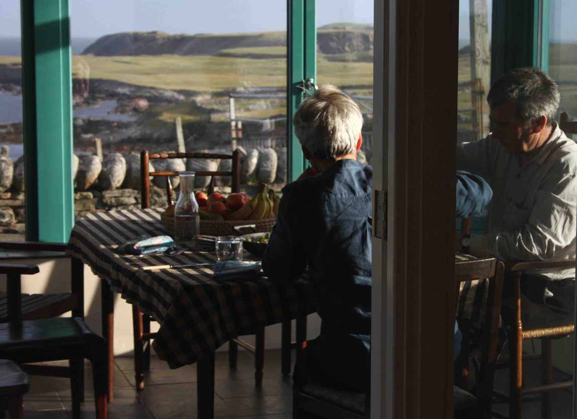 New life for old Buildings Redman and Sutherland Architects Shetland  Fair View, Scatness,  sunroom atmosphere